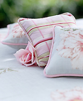 Fragrant sachets filled with rose petals and made from fabric scraps