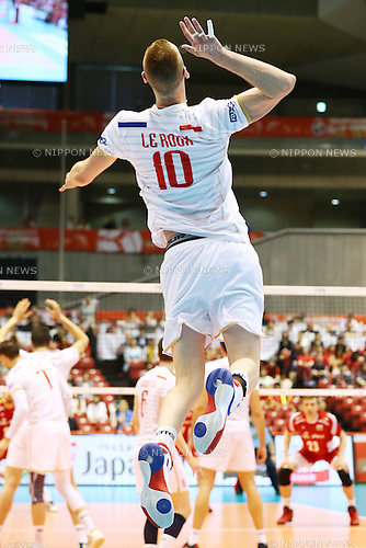 Kevin Le Roux (FRA),<br /> MAY 29, 2016 - Volleyball :<br /> Men's Volleyball World Final Qualification for the Rio de Janeiro Olympics 2016<br /> match between France 2-3 Poland<br /> at Tokyo Metropolitan Gymnasium, Tokyo, Japan.<br /> (Photo by Shingo Ito/AFLO SPORT)