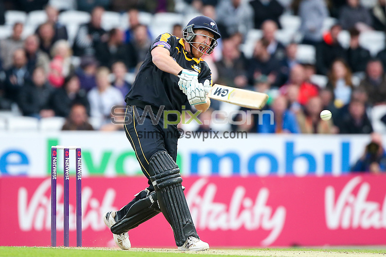 Picture by Alex Whitehead/SWpix.com - 19/06/2015 - Cricket - NatWest T20 Blast - Yorkshire Vikings v Nottinghamshire Outlaws - Headingley Cricket Ground, Leeds, England - Yorkshire's Andrew Gale hits out.