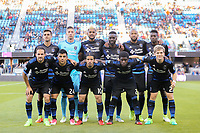San Jose, CA - Wednesday May 17, 2017: San Jose Earthquakes starting XI prior to a Major League Soccer (MLS) match between the San Jose Earthquakes and Orlando City SC at Avaya Stadium.