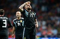 Argentina's Nicolas Otamendi celebrates goal during international friendly match. March 27,2018. *** Local Caption *** © pixathlon<br /> Contact: +49-40-22 63 02 60 , info@pixathlon.de