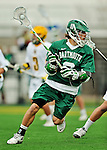 24 April 2012: Dartmouth College Big Green attacker/midfielder Kip Dooley, a Senior from Minneapolis, MN, in action against the University of Vermont Catamounts at Virtue Field in Burlington, Vermont. The Big Green defeated the Catamounts 10-5 in Men's Varsity Lacrosse action. Mandatory Credit: Ed Wolfstein Photo