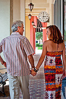 Couple on date, Shopping, Bayfront, Naples, Florida, USA. Photo by Debi Pittman Wilkey<br /> Models... Keri Johnson, John Moran ... signed realeases ...