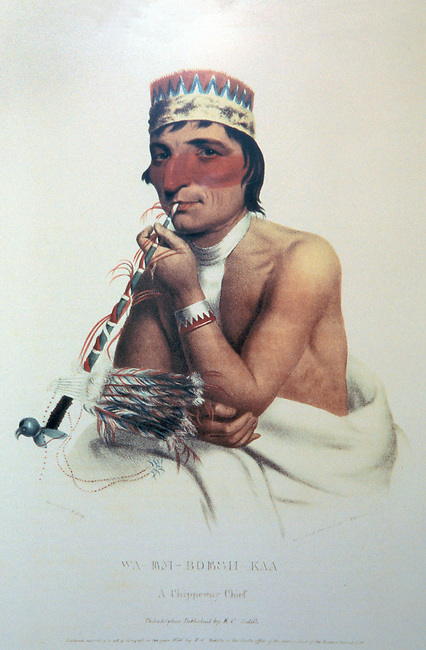 Historic water color painting of a Chippewa Chief