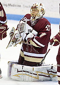 John Muse (BC 1) - The Boston College Eagles and Providence Friars played to a 2-2 tie on Saturday, March 1, 2008 at Schneider Arena in Providence, Rhode Island.