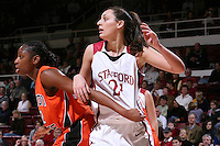 10 January 2008: Ashley Cimino during Stanford's 81-45 win over Oregon State at Maples Pavilion in Stanford, CA.