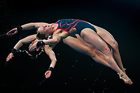Picture by Alex Whitehead/SWpix.com - 11/04/2018 - Commonwealth Games - Diving - Optus Aquatics Centre, Gold Coast, Australia - Robyn Birch and Lois Toulson of England competes in the Women's Synchronised 10m Platform Final.