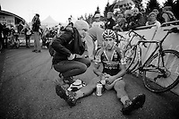 Jan Denuwelaere (BEL/Vastgoedservice-Golden Palace) post-race<br /> <br /> Superprestige Francorchamps 2014