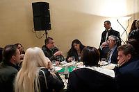 Vicenza: Roberto Calderoli, Rosi Mauro, Umberto Bossi e Roberto Cota nella villa palladiana La Favorita per la presentazione del parlamento padano.