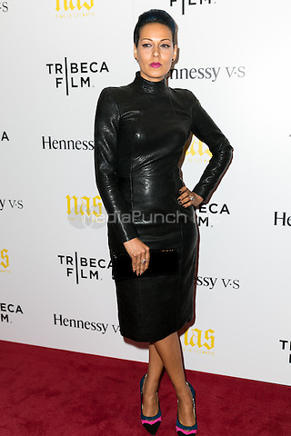 NEW YORK, NY - SEPTEMBER 30: Martha Diaz at the New York film Premiere of 'Nas: Time Is Illmatic'  at Museum of Modern Art on September 30, 2014 in New York City. Credit: John Nacion/MediaPunch