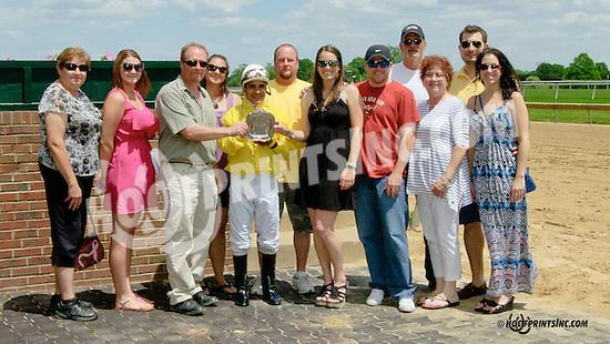 Sky Above winning at Delaware Park racetrack on 5/31/14