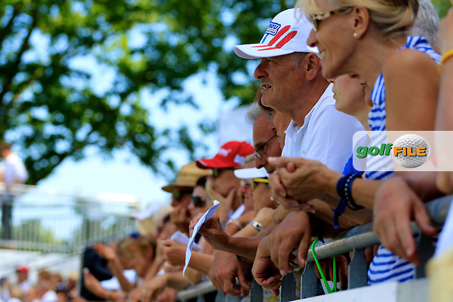 Spectators in action during the final round of the Lyoness Open powered by Organic+ played at Diamond Country Club, Atzenbrugg, Austria. 8-11 June 2017.<br /> 11/06/2017.<br /> Picture: Golffile | Phil Inglis<br /> <br /> <br /> All photo usage must carry mandatory copyright credit (&copy; Golffile | Phil Inglis)