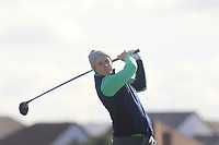 Conor Purcell from Ireland on the 12th tee during Round 2 Foursomes of the Men's Home Internationals 2018 at Conwy Golf Club, Conwy, Wales on Thursday 13th September 2018.<br /> Picture: Thos Caffrey / Golffile<br /> <br /> All photo usage must carry mandatory copyright credit (&copy; Golffile | Thos Caffrey)