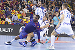 4th October  2017, Palau Blaugrana, Barcelona, Spain; EHF Mens Champions League Group Phase, handball. FC Barcelona Lassa v CRO HC Prvo Plinarski Drustvo
