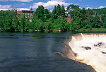 The Androscoggin River at Livermore Falls, Maine, USA