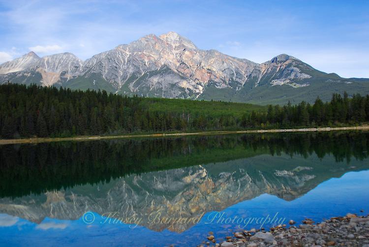Patricia Mountain reflecting in Patricia Lake Jasper National Park.