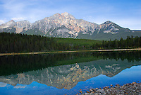 Patricia Mountain reflecting in Patricia Lake Jasper National Park.