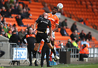 Blackpool's Michael Nottingham and Bradford City's Eoin Doyle<br /> <br /> Photographer Rachel Holborn/CameraSport<br /> <br /> The EFL Sky Bet League One - Blackpool v Bradford City - Saturday September 8th 2018 - Bloomfield Road - Blackpool<br /> <br /> World Copyright &copy; 2018 CameraSport. All rights reserved. 43 Linden Ave. Countesthorpe. Leicester. England. LE8 5PG - Tel: +44 (0) 116 277 4147 - admin@camerasport.com - www.camerasport.com