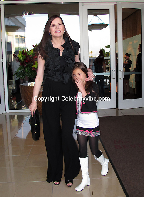 Geena Davis and daughter Alizeh..2011 Women In Film Crystal + Lucy Awards - Inside..The Beverly Hilton Hotel..Beverly Hills, CA, USA..Thursday, June 16, 2011..Photo By CelebrityVibe.com..To license this image please call (212) 410 5354; or.Email: CelebrityVibe@gmail.com ;.website: www.CelebrityVibe.com