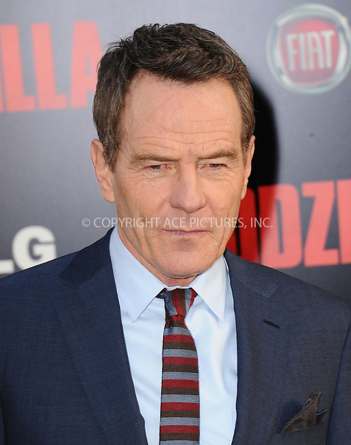 ACEPIXS.COM<br /> <br /> May 8 2014, LA<br /> <br /> Bryan Cranston arriving at the Los Angeles premiere of 'Godzilla' at Dolby Theatre on May 8, 2014 in Hollywood, California. <br /> <br /> By Line: Peter West/ACE Pictures<br /> <br /> ACE Pictures, Inc.<br /> www.acepixs.com<br /> Email: info@acepixs.com<br /> Tel: 646 769 0430