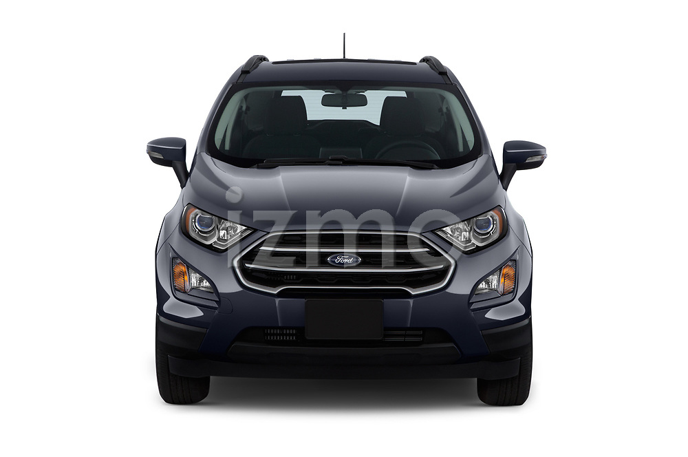 Car photography straight front view of a 2018 Ford EcoSport SE 5 Door SUV
