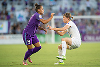 Orlando, FL - Saturday July 15, 2017: Camila Martins Pereira, Becca Moros during a regular season National Women's Soccer League (NWSL) match between the Orlando Pride and FC Kansas City at Orlando City Stadium.