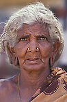 An old lady in Madurai Tamil Nadu in India.