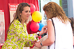 07.06.2012. Princess Elena of Spain attens recollection table in the Charity Day, organized by Caritas in the Banco Popular Español in Madrid. In the image Princess Elena de Borbon (Alterphotos/Marta Gonzalez)