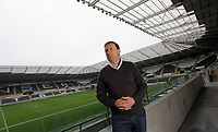 Pictured: Swansea City Football Club chairman Huw Jenkins at the Liberty Stadium, south Wales. 14 march 2012