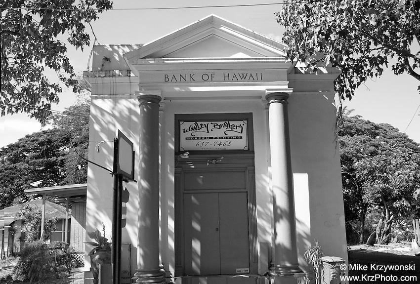 Historic Bank of Hawaii Building in Waialua, Oahu, Hawaii