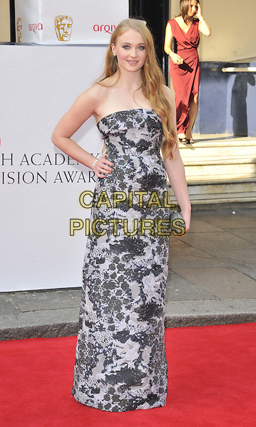 LONDON, ENGLAND - MAY 18: Sophie Turner attends the Arqiva British Academy TV Awards 2014, Theatre Royal Drury Lane, Catherine St., on Sunday May 18, 2014 in London, England, UK.<br /> CAP/CAN<br /> &copy;Can Nguyen/Capital Pictures