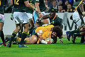 9th September 2017, nib Stadium, Perth, Australia; Supersport Rugby Championship, Australia versus South Africa; Tatafu Polota-Nau of the Australian Wallabies scores a try in the second half