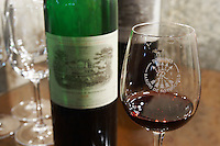 the 1995 in a glass ch lafite rothschild pauillac medoc bordeaux france