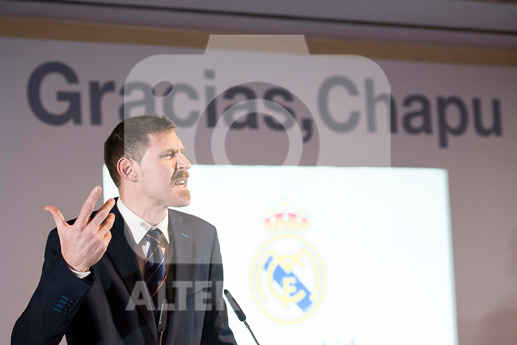 "Andres ""El Chapu"" Nocioni during the appearance of retirement as profesional basketball player at Stadium Santiago Bernabeu in Madrid, Spain. April 04, 2017. (ALTERPHOTOS/BorjaB.Hojas)"