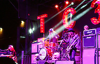 The Cadillac 3 entertains the Freak Fest crowd on the Steve Brown Apartments / 96.3 Star Country Stage on Gilman Street Saturday night in Madison during Freakfest 2015 on State Street in Madison, Wisconsin