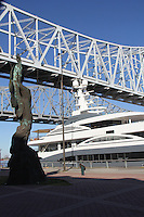 Yacht Kismet docked in the Port of New Orleans