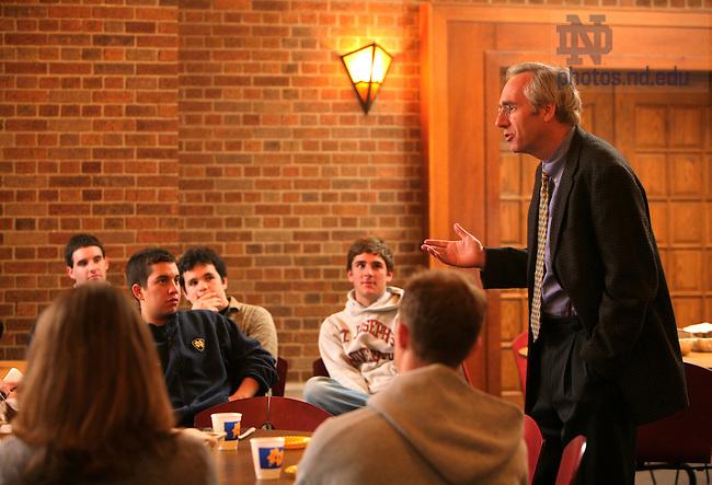 Dean Roche Speaks to undergraduates in 2005