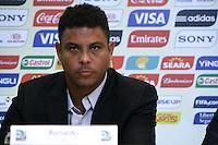 RIO DE JANEIRO; RJ; 07 DE MARÇO 2013 - Ronaldo na coletiva onde falou sobre as obras e os preparativos para receber a Copa das Confederações. FOTO: NÉSTOR J. BEREMBLUM - BRAZIL PHOTO PRESS.