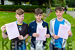 St Brendans College students Sean doherty, Darren Mulcahy and Cian Gammell happy with their first exam in Leaving Cert  on Wednesday