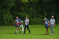 Paul Casey (GBR) and Andrew Putnam (USA) make their way down 5 during round 1 of the 2019 Charles Schwab Challenge, Colonial Country Club, Ft. Worth, Texas,  USA. 5/23/2019.<br /> Picture: Golffile | Ken Murray<br /> <br /> All photo usage must carry mandatory copyright credit (© Golffile | Ken Murray)