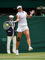 02-07-13, England, London,  AELTC, Wimbledon, Tennis, Wimbledon 2013, Day eight, Na Li (CHN)<br /> <br /> <br /> <br /> Photo: Henk Koster