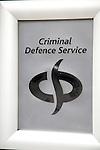 Criminal Defence Service sign