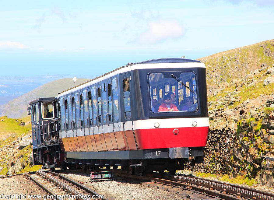 Snowdon Mountain railway, Llanberis, Gwynedd, Snowdonia, north Wales, UK