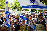2013-08-03, Berlin. About 800 people took to the streets to demonstrate against the state of Israel.<br />
