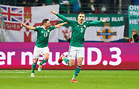 19th November 2019, Frankfurt, Germany; 2020 European Championships qualification, Germany versus Northern Ireland;  Michael SMITH, NIR celebrates his 0-1 goal