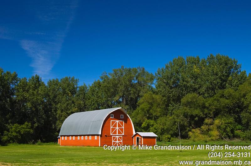 Red barn<br />Rathwell<br />Manitoba<br />Canada
