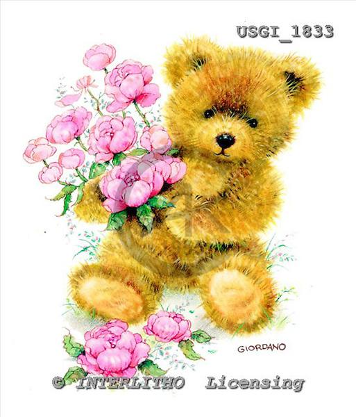 GIORDANO, CUTE ANIMALS, LUSTIGE TIERE, ANIMALITOS DIVERTIDOS, Teddies, paintings+++++,USGI1833,#AC# teddy bears