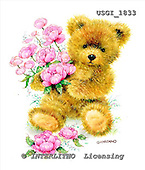 GIORDANO, CUTE ANIMALS, LUSTIGE TIERE, ANIMALITOS DIVERTIDOS, Teddies, paintings+++++,USGI1833,#AC# teddy bears