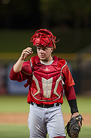 AZL Angels catcher Connor Fitzsimons (6) on defense during a game against the AZL Giants on July 10, 2017 at Scottsdale Stadium in Scottsdale, Arizona. AZL Giants defeated the AZL Angels 3-2. (Zachary Lucy/Four Seam Images)