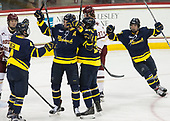 Marc Biega (Merrimack - 4), Hampus Gustafsson (Merrimack - 20), Sami Tavernier (Merrimack - 25), Brett Seney (Merrimack - 13) - The visiting Merrimack College Warriors defeated the Boston College Eagles 6 - 3 (EN) on Friday, February 10, 2017, at Kelley Rink in Conte Forum in Chestnut Hill, Massachusetts.